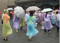 Wholesale 2017 New PE Disposable One Time Raincoats Poncho Rainwear Fashional Travel Rain Coat Rain Wear gifts mixed colors PC