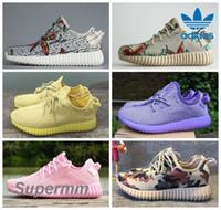 Cheap 2016 Adidas Yeezy Boost 350 Custom Mismatch Yellow Pink Purple White Camo Men Women Running Shoes Kanye West Yeezy 350 Yeezys Boosts Season