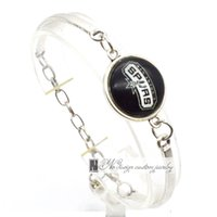 antonio american - 2017 Fashion Bracelet Bangle San Antonio Professional basketball Spurs University Team Sport Charms Bracelet for Women Fan Jewelry SP010