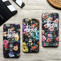 angeles apples - Fashion Flower Luminous Stussy Case Cover For iPhone S Plus Plus Phone Case New York Los Angeles SS1008