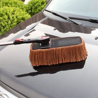Wholesale Car Duster Retractable Aluminum Handle Worsted Cotton Brush Eliminate Dust Clean Your Car Surface Window Inner seat