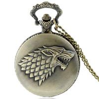 best crest - Vine Classic House Targaryen Family Crest Pocket Watch Vine Game of Thrones Dragon Pendant Necklace Best Gift