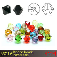 animal fast food - Sales promotion glass crystal jewelry beads Bicone Beads mm Normall Color A5301 set with free fast shipping