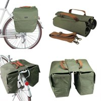 Wholesale Tourbon Bike Double Panniers Cycling Bag Rolled Up Rear Market Ruck Waterproof