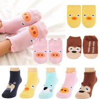 1-3T baby no show socks - 5 Pairs Months Baby Boys Girls Infant Toddler Anti Slip Skid Socks Animal No Show Crew Ankle Cotton Non Skid Floor boat Socks