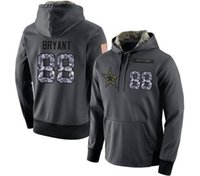 Wholesale 2017 Dez Bryant Anthracite Salute to Service Hoodies Dallas Sweatshirts Cowboy USA Football Jerseys Cowboys Tony Romo Emmitt Smith Sean Lee