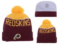Wholesale Football Redskins Beanies Winter High Quality Washington Red Beanie For Men Women Skull Caps Skullies Knit Cotton Hats