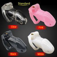 Livraison gratuite Standard Cage The 100% Biosourced resin chastity device Sex Toys For Man Anal Plug Butt Plug Cock RingAdult CD076