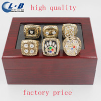 Wholesale Liaobao CH1001 Factory Sale High Quality Fashion Replica Championship Ring Sets Pittsburgh Steeler Super Bowl Championship Ring