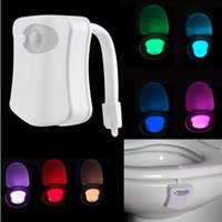 Wholesale High Quality Safe Reliable LED Toilet Light Colors In One Lamp Motion Activated Light Sensitive Dusk to Dawn Battery operated