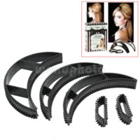 Wholesale 5 Women Lady Magic Hair Volumizing Bumpits Inserts Bump Up Clip Black Gift hair acessorie