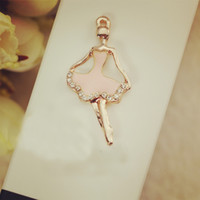 Charms ballerina pendants - Ballerina floating Enamel Charms Alloy Pendant fit for necklaces bracelets DIY Female Fashion Jewelry Accessories