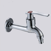Wholesale And Retail Promotion NEW Chrome Brass Washing Machine Faucet Wall Mounted Pool Sink Tap also for garden use ZJ