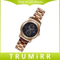 Wholesale mm Stainless Steel Watch Band Smartwatch Strap Bracelet for LG G Watch W100 W110 Urbane W150 ASUS Zenwatch Pebble Time Steel