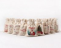 Wholesale 10 off Christmas Large Canvas Santa Claus Drawstring Bag Monogramable Christmas Gifts Sack Bags fast shipping