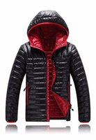 Wholesale The new hot Men s Fashion outdoor headset Down Coat North Jacket cap Pure luxury Hooded Down Face Hoodies Outerwear