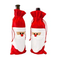 Wholesale Piece Red Wine Backpacks Bags Bottle Cover Christmas Party Children Wine Lovely Backpack TY0121