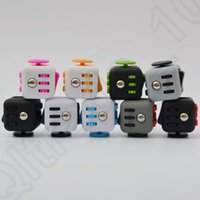 Wholesale Magic Fidget Cube Desk Toy Stress Anxiety Relief Adults Kids Focus Toys Puzzle Spinner Hand Colors OOA1207