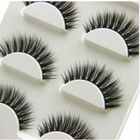 Wholesale 3Pairs set Natural Long D False Eyelashes Makeup Handmade Thick Fake Eye Lashes Extension Tools