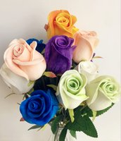 Wholesale 10pcs Real Touch Rose Simulated Fake Latex Roses cm Colors for Wedding Party Artificial Decorative Flowers