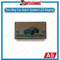Venta al por mayor-Promoción Exhibición libre de Starlionr A9 LCD del envío para el sistema de alarma bidireccional de dos vías teledirigido del coche de Starlionr A9 del LCD
