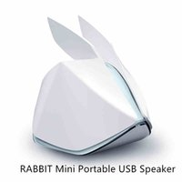 Wholesale New Style Fashion Origami RABBIT Mini Portable USB Magic Ring Vibration Computer Speaker Computer Accessories