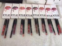 Wholesale Kylie Lip Gloss Lipstick Kylie Jenner lip Kit Lipliner lipgloss liquid lipstick matte kylie lip kit Moon Spice Pumpkin Smile LEO Colors