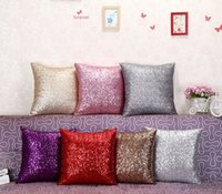 Wholesale Hot Mermaid Sequin Pillow Case Two Tone Glitter Mermaid DIY Cushion Cover Sequins pillow sets of beads sofa cushions Xiubian cushions