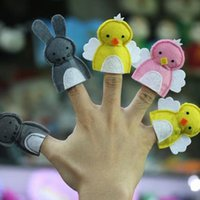 baby paper dolls - The new puzzle felt cloth finger puppets Mini cartoon small animal doll baby story a good helper