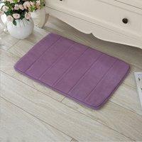 Wholesale Memory Foam Bath Mat Absorbent Slip resistant Pad Bathroom Bath Mats IB088 P