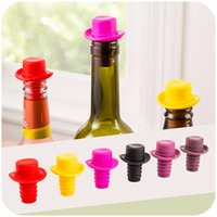 Silicone beer champagne - Fashion Silicone Bottle Caps Soft Hat Cork Wine Champagne Bottle Stoppers Beer Soda Bottle Sealing Cap Savers Kitchen Bar Tools Colorful