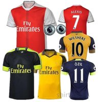 Wholesale OZIL jersey top thai quality Adult suit OZIL WILSHERE ALEXIS GIBBS WALCOTT CHAMBERS soccer jersey football jerseys shirts free shippin