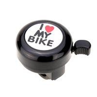 Wholesale Funny Cute I Love My Bike Printed Bicycle Bell Bicycle Accessories Bike Alarm Warning Ring Bell for Children