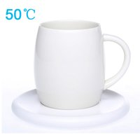 Wholesale 50 Constant Temperature Wireless Charging Heating Cups Degree Warm Preserve Heat Pottery Glass Smart Healthy Cup