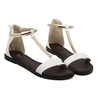 Wholesale Online Shopping Sandals For Womens Ladies Flats T Strap Shoe Girls Fashion Shoes Purchase Branded Footwear Shop Websites With