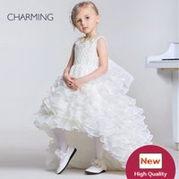 ball gowns suppliers - Dresses for kid girl Designer kids dresses Flower girl dress ivory high quality Pageant dresses for girls China suppliers