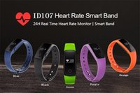 English apples information - ID107 Smart Bluetooth Bracelet Dynamic Heart Rate Call Information Reminder Gift Waterproof Sports Bracelet Wristband with Retail Package