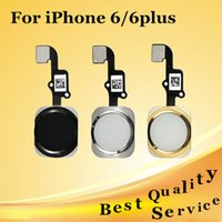 Wholesale 100 New Home Button Sensor Ribbon Flex Cable Complete For iPhone plus Spare Parts Replacement DHL