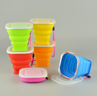 Wholesale Portable Silicone Retractable Folding Water Cup Collapsible Outdoor Travel Telescopic Soft Drinking Cup Stainless Steel Cup Mouth