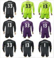 arsenal goalkeepers - 2017 Long Kits Arsenal Goalkeeper Jerseys The Gunners Soccer Jersey CECH Ospina OZIL ALEXIS Martinez Full Keeper Sets Football Jersey