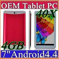 venda por atacado 7 inch 3g phablet-40X DHL SH 2015 barato 7 polegadas 3G Phablet Android 4.4 MTK6572 Dual Core 4GB Dual SIM Telefone GPS WIFI Tablet PC com Bluetooth EBOOK B-7PB