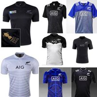 Wholesale 15 new All Black home rugby Jersey refuelled New Zealand top quality super white rugby shirts euro size champion football Jers