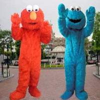 Wholesale Biscuits and EPE sesame street elmo mascot costume adult cartoon costume