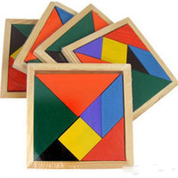 Wholesale 20sets Colorful Children Kids Educational Tangram Shape Wooden Puzzle Toy Brand FT Blocks