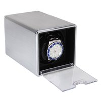 Wholesale High Quality Durable Rectangle Single Mute Automatic Watch Winder Display Box Gift Silver Hot Sale