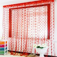 Wholesale Romantic Wedding Curtain cortina rideau Heart Shaped String Line Curtain Quality Hot Sale Home Textile Decors Styles