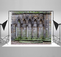 Wholesale Castle Photography Backgrounds Broken Brick Wall Photo Backdrop for Wedding Backdrops Backgrounds