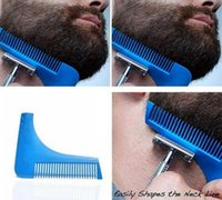 Comb Bro Shaping Tool Sex Man Gentleman Beard Trim Template Cheveux coupés Cheveux Moulding Trim Template Beard Hair Brush TOP1744