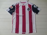 Camisetas de fútbol de color rosa Baratos-Chivas Guadalajara 16-17 3ro blanco y negro rayas ventiladores versión camiseta de fútbol de calidad tailandesa camisas de fútbol AAA + Qaulity Camisetas De Futbol