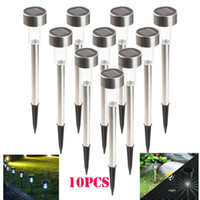 Wholesale Solar Lamps Lawn LED Light Stainless Steel Solar Garden Lights Led Corridor Light Decoration Outdoor Yard Lamps Water Resistant